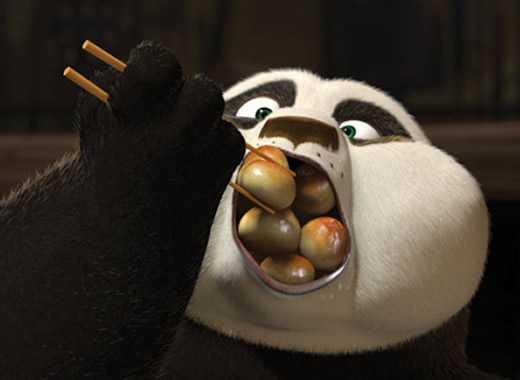 kung fu panda cibo