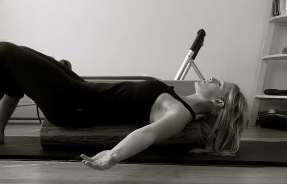 Foam roller stretching