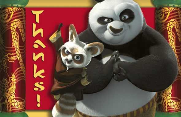 kung fu panda grazie pergamena