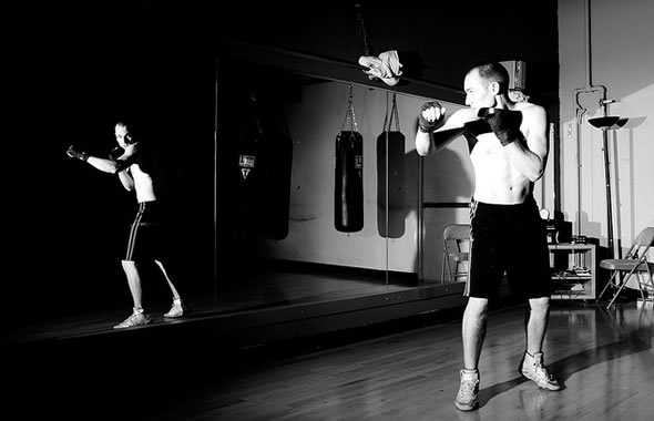 shadow boxe allenamento kung fu