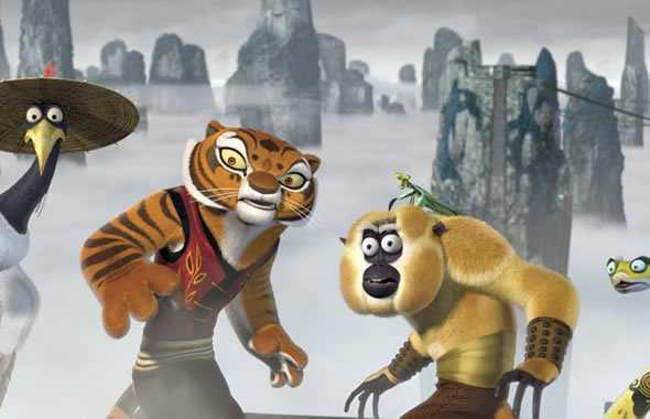 kung fu panda tigre scimmia