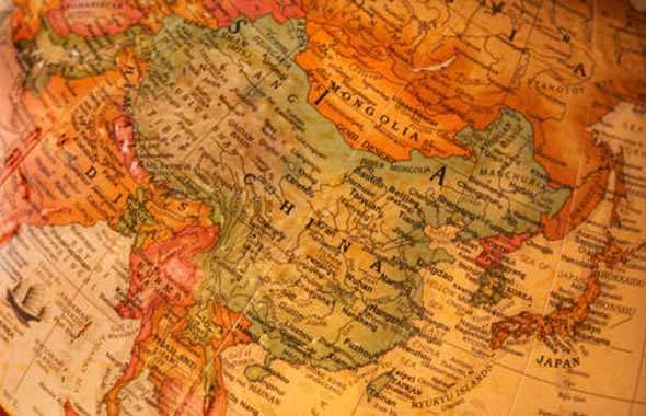 Cina cartina