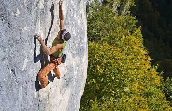 Paolo Calzà arrampicata
