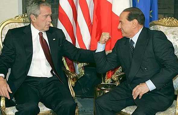 Berlusconi Bush