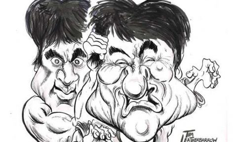 jackie chan e bruce lee disegno
