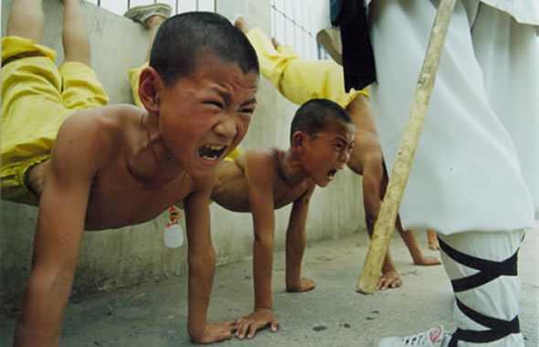 kung fu bimbi allenamento