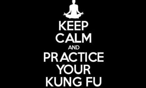 keep calm and kung fu