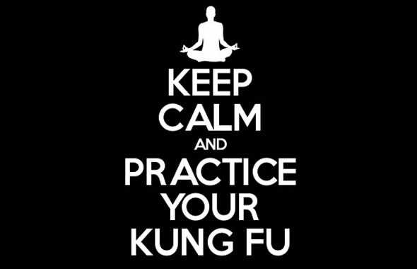 keep calm and kung fu