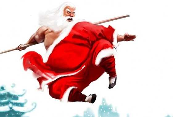 babbo natale kung fu