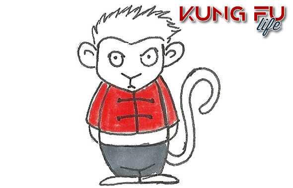 kung fu life scimmia