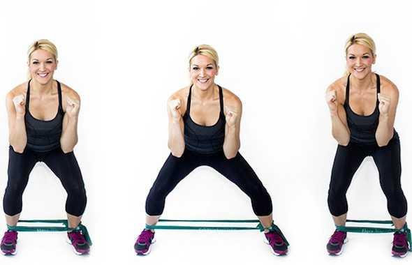 adduttori squat elastici