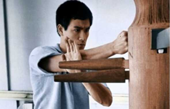 bruce lee omino di legno jeet kune do