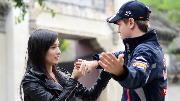 Sebastian Vettel e Celina Jade Kung Fu